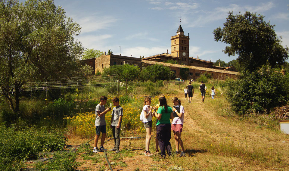 Tallers escolars d'agroecologia a Can Monmany