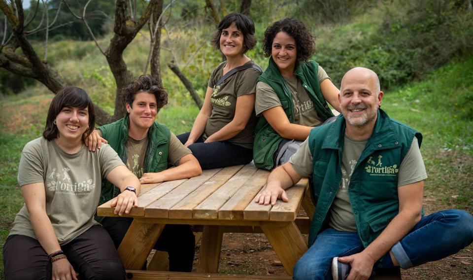 Educadors de l'equip Educació de L'Ortiga cooperativa